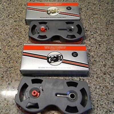 2 Compatible Ibm 1299095 Blk Typewriter Ribbon Cartridge Correcting Selectric Ii