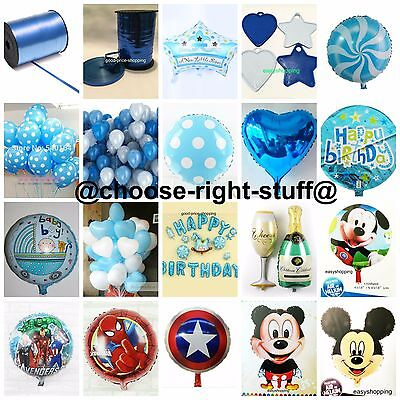 Blue Party IDEAS Balloons For Boys Birthday Party New Born Baby Boy Baby Shower](Boy Birthday Party Ideas)