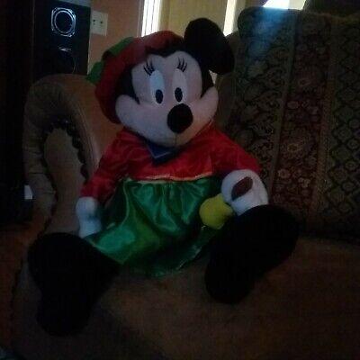 Disney Minnie Mouse plush musical Christmas caroler dances and plays music!!