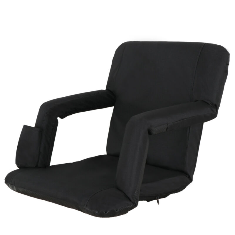 Ergonomics Stadium Seats Chairs For Bleachers 5 Reclining Positions Black