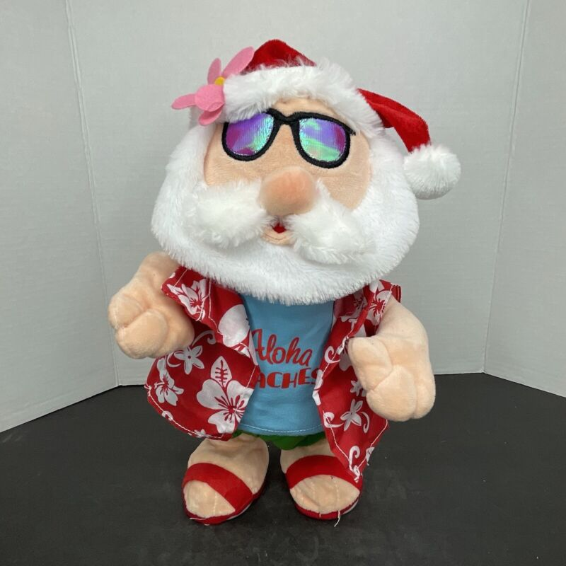 Gemmy Christmas Aloha Beaches Animated Dancing Singing Santa