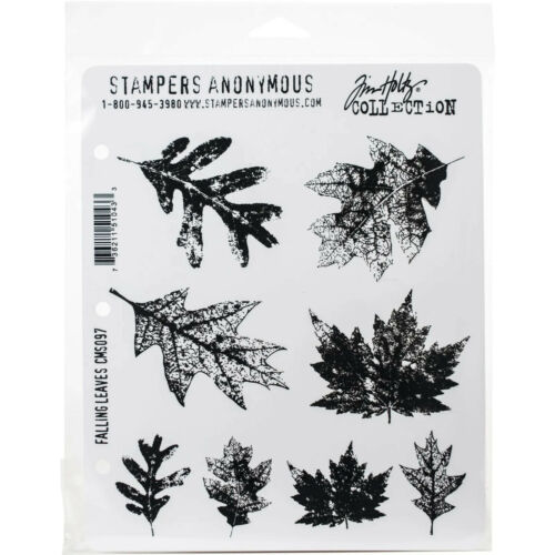 Stampers Anonymous Tim Holtz Cling Rubber Stamp Set, Falling Leaves (CMS-097)