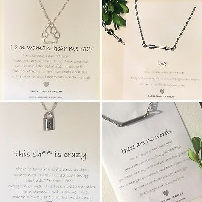 Best Friend Necklace Message Card Jewelry Gift Idea for Woman Thank you