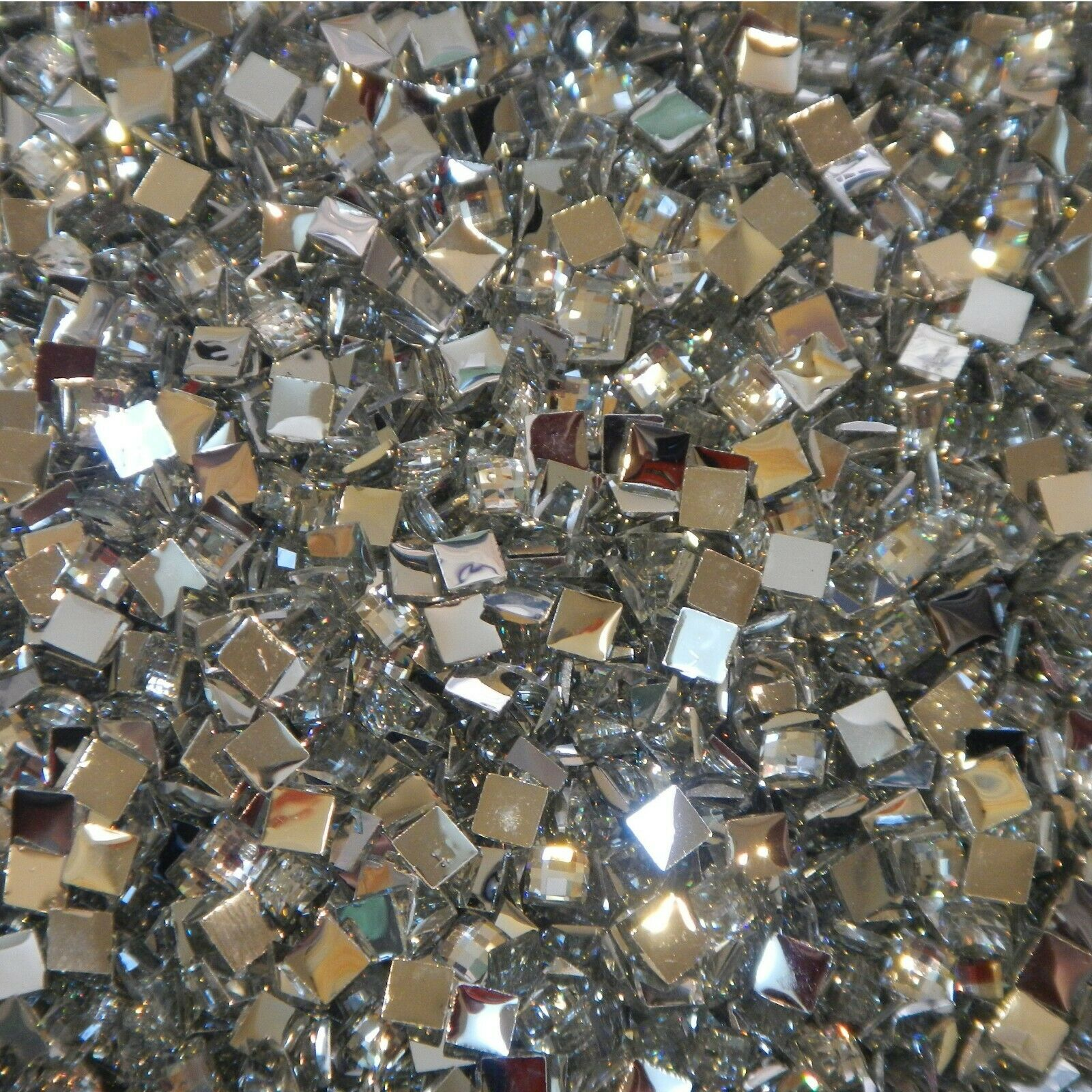 1000 Crystal Flat Back Resin Rhinestones Gems 60 colors, 2mm, 3mm, 4mm, 5mm, 6.5 SQUARE CLEAR