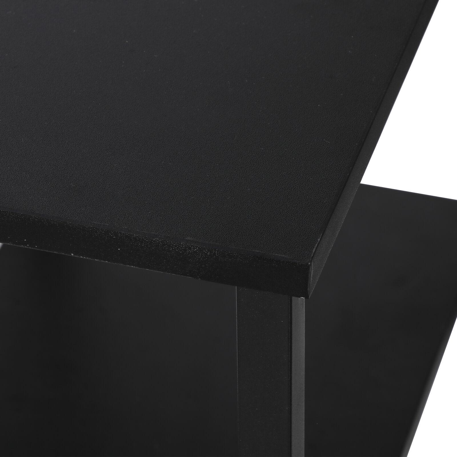 36″ Wood Computer Desk w/2 Tier Shelves Modern Laptop Study Table Home Office Furniture
