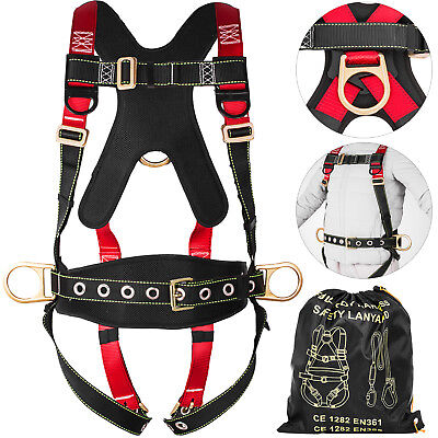 Fall Protection Construction Harness Full Body Safety Waist Belt Universal