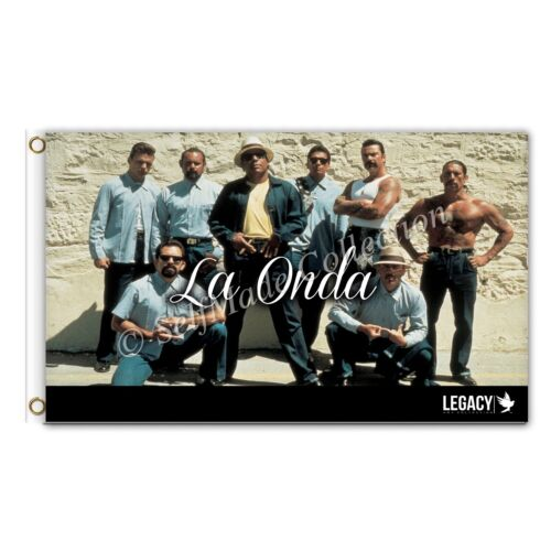 La Onda 3ftx5ft Flag Banner blood in blood out chicano family lowriders poster