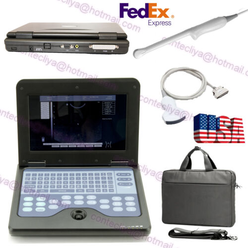 Portable Laptop Ultrasound Scanner Machine+2 Probe,digital Diagnostic System,fda