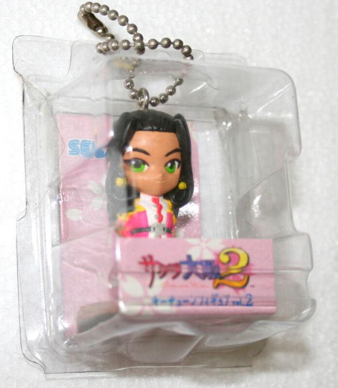 """Sakura Wars 2 Keychain 1998 Sega 3"""" Figure Mint Orihime Japanese Anime"""