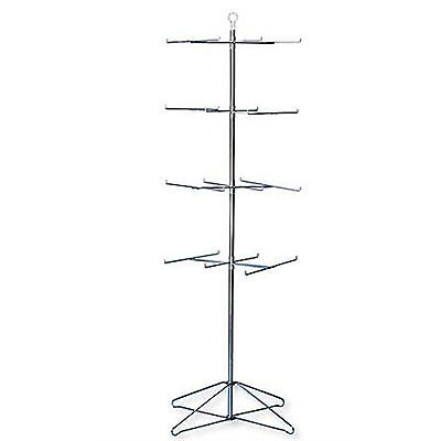 Retail Display Hanging Floor Spinner Rack - 4-tier Wire 63h
