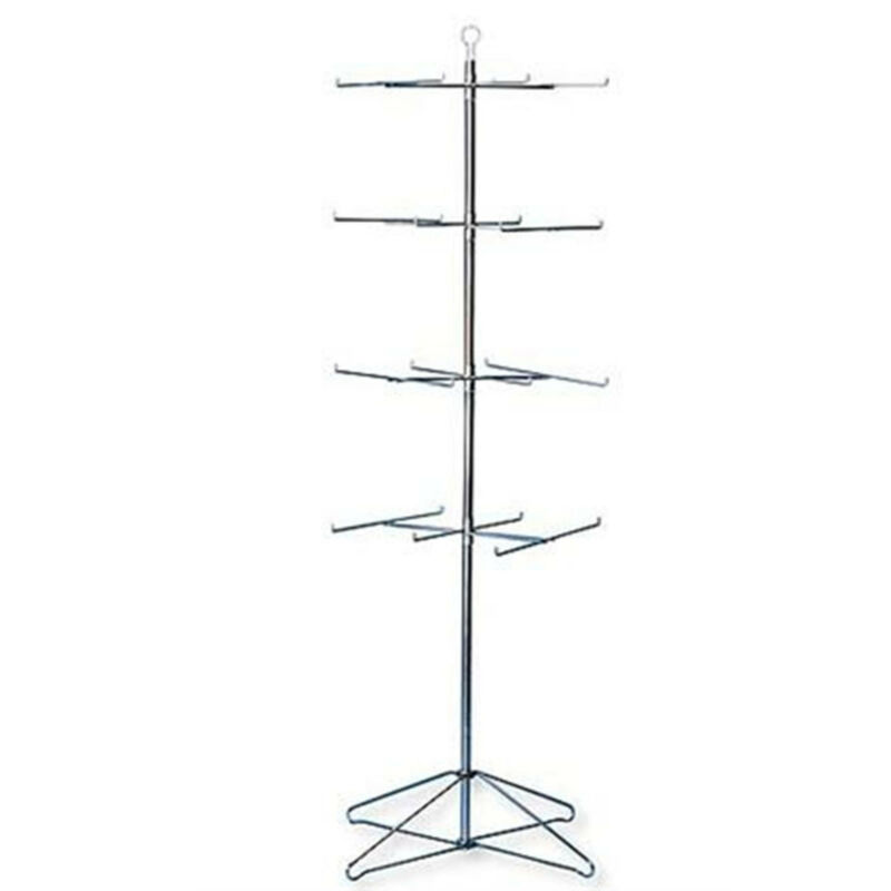 "Retail Display Hanging Floor Spinner Rack - 4-Tier Wire 63½""H"