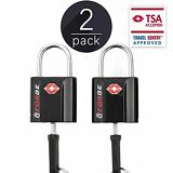 TSA Approved Luggage Locks, Ultra-Secure Dimple Key Travel Locks 2 Pack
