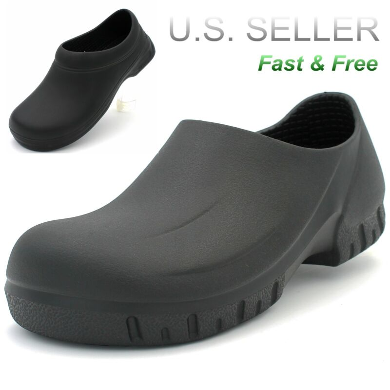 33c86c99a50f Men s Working Clogs Non-slip Shoes Slip Oil Resistant Kitchen Skid Slippers