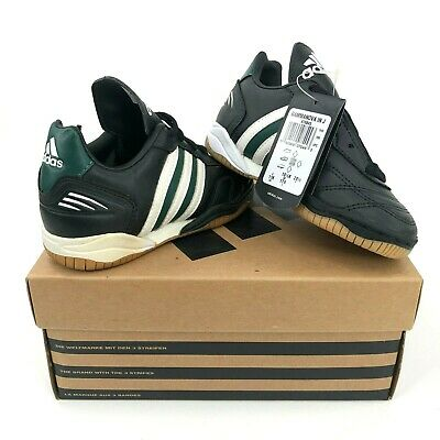 0c55b7105b31 Vintage adidas Gammanova IN J Kids Boys 11K Indoor Soccer Shoes Black Green  NIB