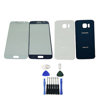 OEM Front Glass Screen Lens Back Battery Cover Door For Samsung Galaxy S6 G920