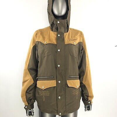 Womens burton snowboarding rain coat jacket Size large L Tan Brown