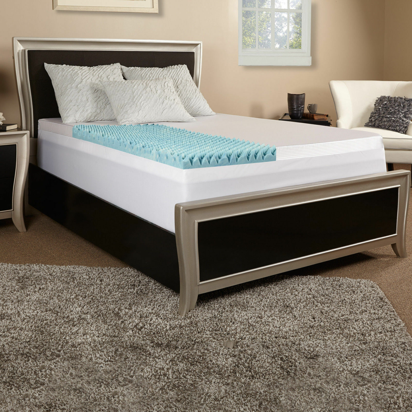 Serta 3 inch memory foam mattress topper - Memory Foam Solutions Topper