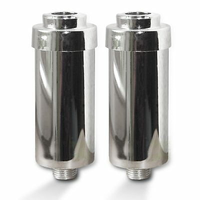 2x Duschfilter FitAqua verchromt Wasserfilter zum Wohle Ihrer Haut,