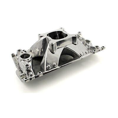 fits Chevy SBC 350 Shootout +Plus Vortec High Rise Intake Manifold Polished