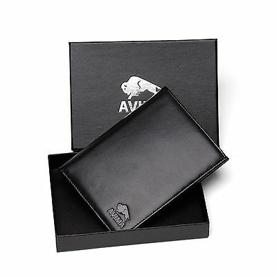 AVIMA® BEST Genuine Leather Passport Holder Travel Wallet - for Men & Women