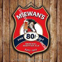 Mcewan's Fino Cerveza Ale Publicidad Bar Pub Metal Bomba Escudo Insignia Acero -  - ebay.es