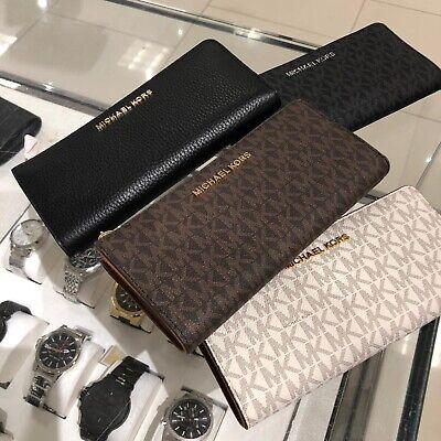 Michael Kors Women Lady PVC Leather Credit Card Holder Clutch Wallet Purse Bag