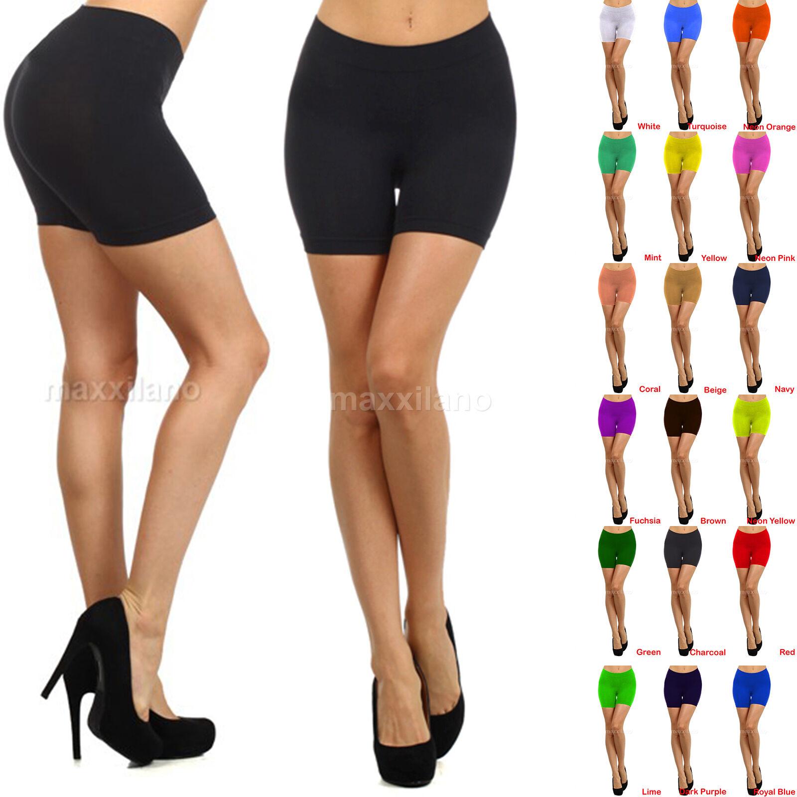 Womens Leggings Shorts Sexy Biker Yoga Workout Size XS,S,M,L