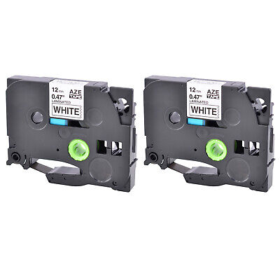 2pk Compatible For Brother P-touch Tz-231 Tze-231 12 Label-tape Black On White