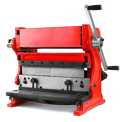 "Shear Brake Roll Combination 3 in 1 Metal Work Machine 12"" Sheet Metal Bending"