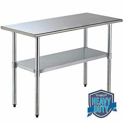 24  X 48  Commercial Stainless Steel Work Table  Food Prep Kitchen Restaurant