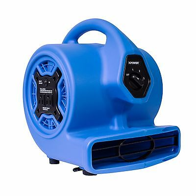 Xpower P-100a 18 Hp Mini Air Mover Carpet Dryer Blower Floor Fan W Dual Outlet