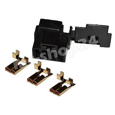 H4 Stecker Fassung Sockel Lampensockel P43t Auto KFZ Crimp Kontakte männlich