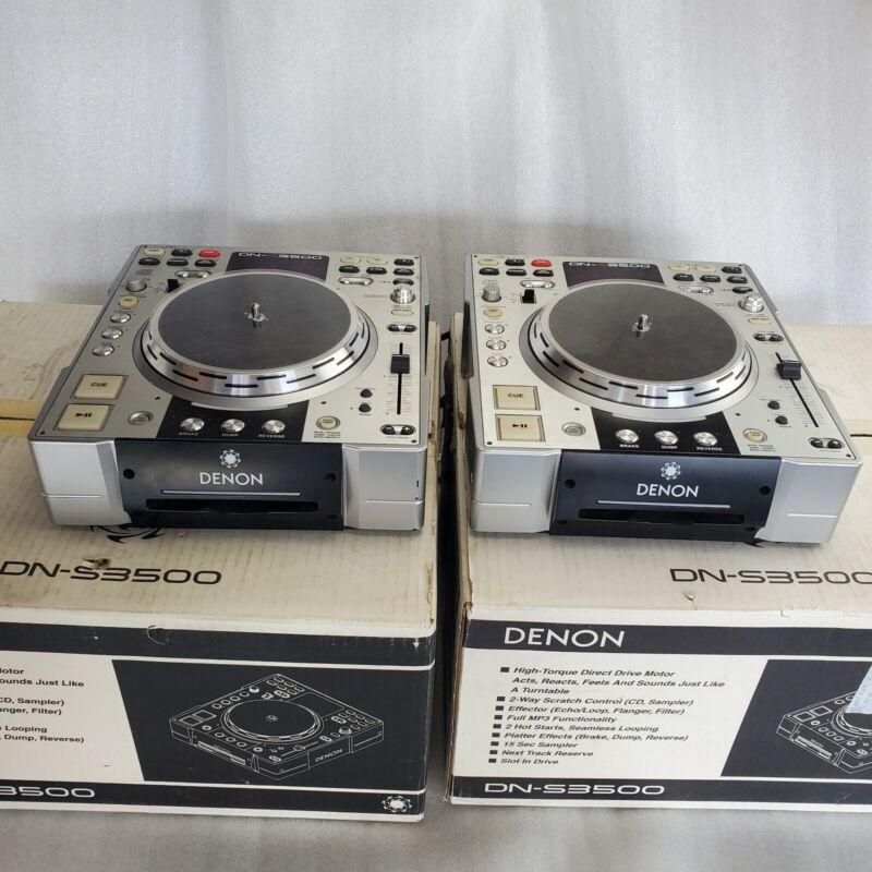DENON DJ DN-S3500 COMPACT CD/MP3 DISC PLAYERS SOLD AS A PAIR GOOD CONDITION