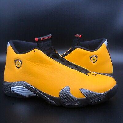 "Brand New Jordan 14 ""Yellow Ferrari/University Gold/Black/Red"" Size 9.5 DS"