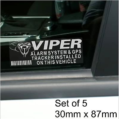 5 x VIPER GPS Tracking Device-Alarm Security Stickers-Car Tracker Warning Signs