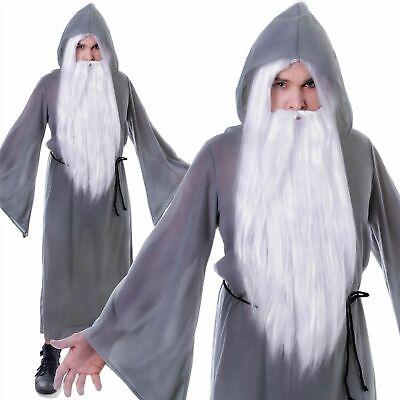 Erwachsene Grau Zauberer Mantel Kostüm Kostüm Gandalf Dumbledore Buch Tag - Gandalf Kostüm Halloween