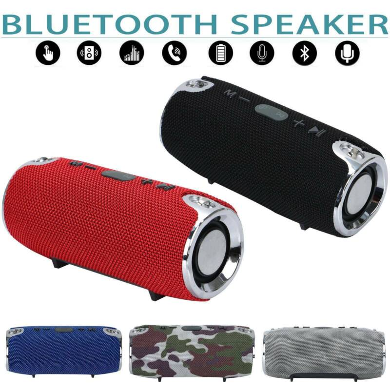 New Rechargeable Portable speaker Wireless Bluetooth Speaker Stereo Bass V4.2 UK