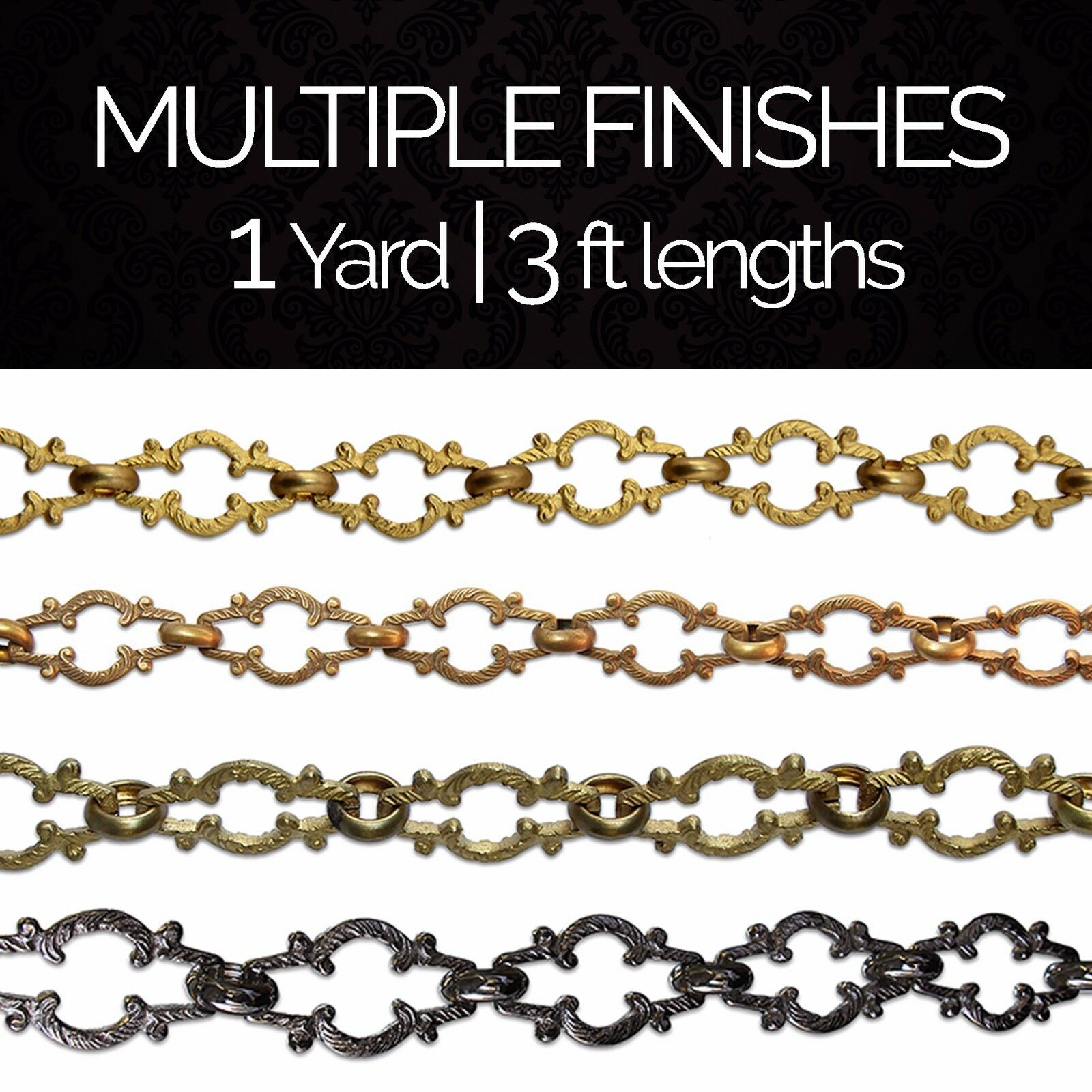 Solid Brass Motif Decorative Chandelier Lighting Chain #36 |
