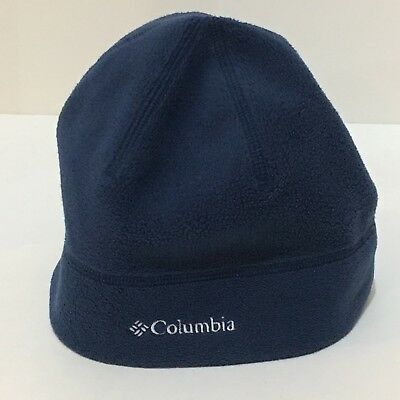 Columbia Blue Fleece Beanie With Omni-Heat Lining S M Unisex b54e63e40233