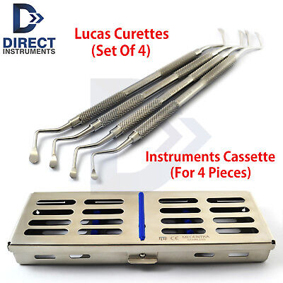 Dental Lucas Surgical Bone Curette Periodontal Scaling Root Planing Cassette