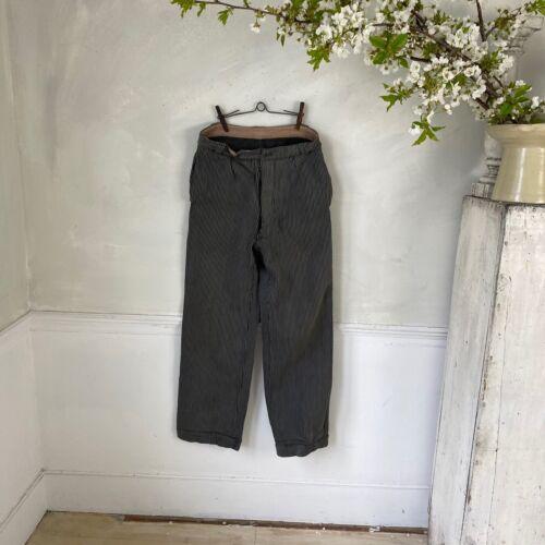 Grey Work Pants 1940s Pants Striped French Workwear Work Wear Timeworn Pants