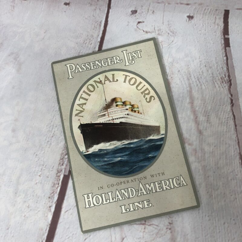 1934 Passenger List Rotterdam New York Nassau  Bermuda Holland America Line