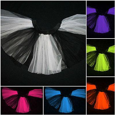 Neon Tutus (Uv Tutu Skirt Dance Club Wear 2 Layer Neon 80s Fancy Dress Halloween)