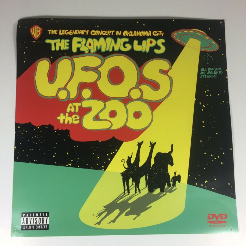 """The Flaming Lips Promotional Poster U.F.O.S at the Zoo Oklahoma City 12"""" x 12"""""""