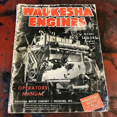 Waukesha Engine Operation Maintenance Manual Motor Model 140 145