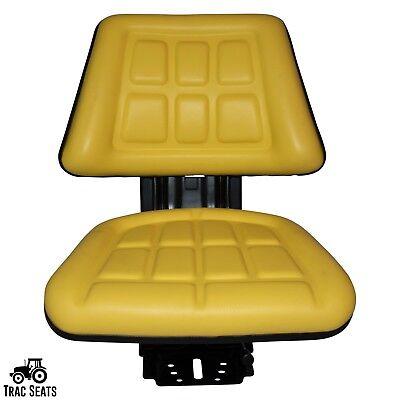 Yellow John Deere 5400 5410 6110 Triback Style Tractor Suspension Seat