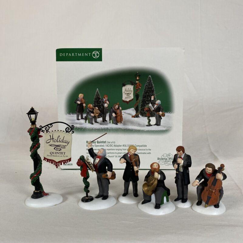 Department 56 Dickens Village - Holiday Quintet #58520 - 6 Pieces - NO POWER