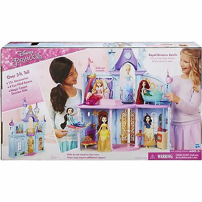 Disney Princess Royal Dreams Castle Doll House w/ Elevator & 15+ Accessories NEW (Dollhouse Dream Castle)