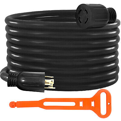 Generator Extension Cord 50ft 104 Power Cable 30 Amp Adapter Plug Copper Wire