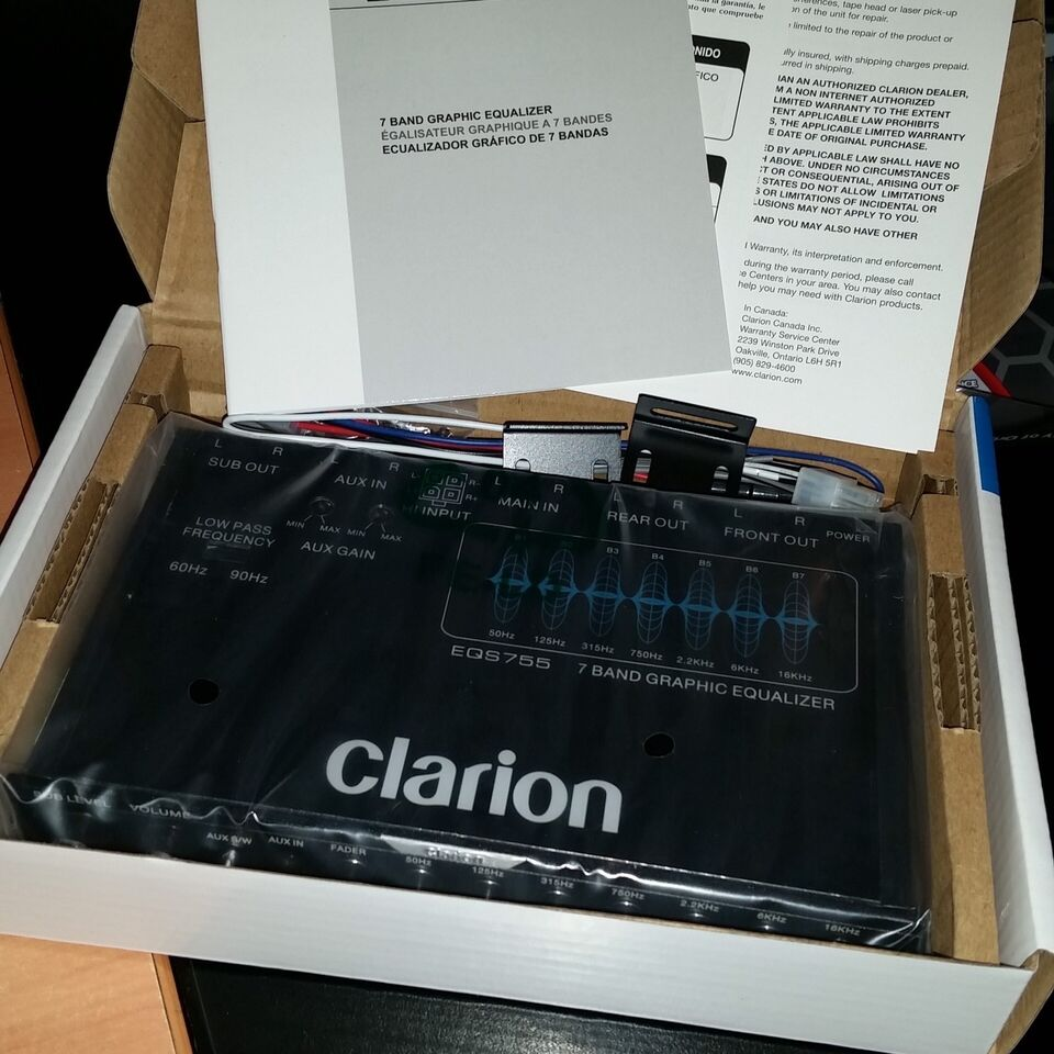 NEW Clarion EQS755 1/2 Din Graphic Equalizer/Crossover